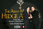 Picture of award winner at the Eurekahedge Asian Hedge Fund Awards 2007