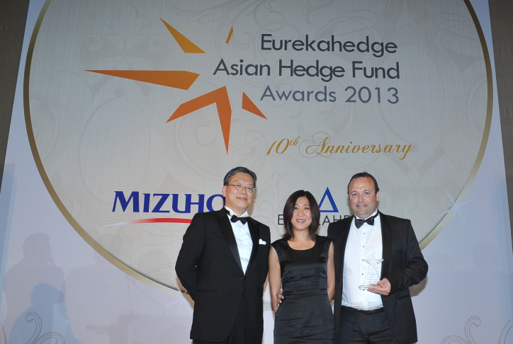 Picture of a winner at the Eurekahedge Asian Hedge Fund Awards 2013