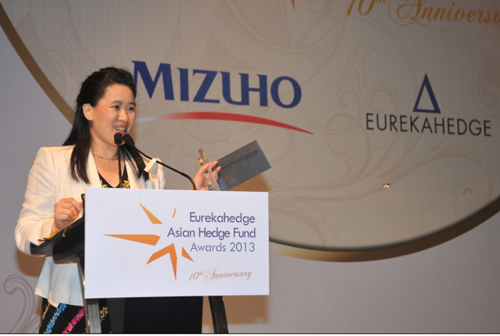 Picture of award presenter at the Eurekahedge Asian Hedge Fund Awards 2013