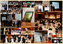 Photo collage of event taking place in the Ballroom of Capella at the Eurekahedge Asian Hedge Fund Awards 2013