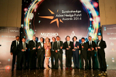 Picture of all the winners on stage at the Eurekahedge Asian Hedge Fund Awards 2014