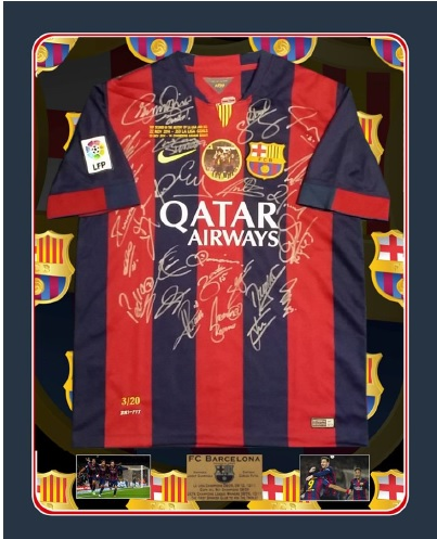 Limited Edition Barcelona Jersey auctioned at the Eurekahedge Asian hedge fund awards 2016