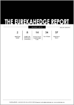 Cover page of the Eurekahedge hedge fund monthly report