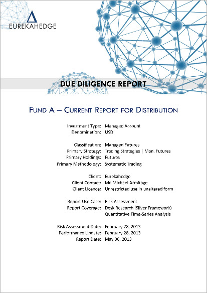 cover page of a due diligence report by Eurekahedge
