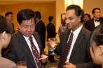 Picture of guests networking at the cocktail bar at the Eurekahedge Asian Hedge Fund Awards 2011