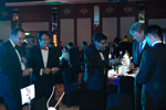 Picture of guests exchanging name cards at the Eurekahedge Asian Hedge Fund Awards 2011