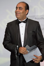 Picture of prize presenter at the Eurekahedge Asian Hedge Fund Awards