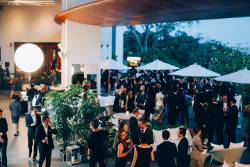 Guests mingling at Bob's Bar, Capella at the Eurekahedge Asian Hedge Fund Awards 2016