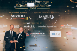 Best Asian Hedge Fund Award winner at the Eurekahedge Asian Hedge Fund Awards 2016
